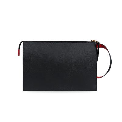 feather clutch black 6